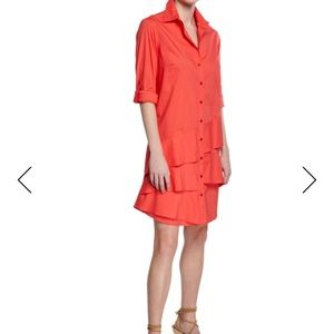 Brand new Jenna Easy Ruffle-Tiered Shirtdress